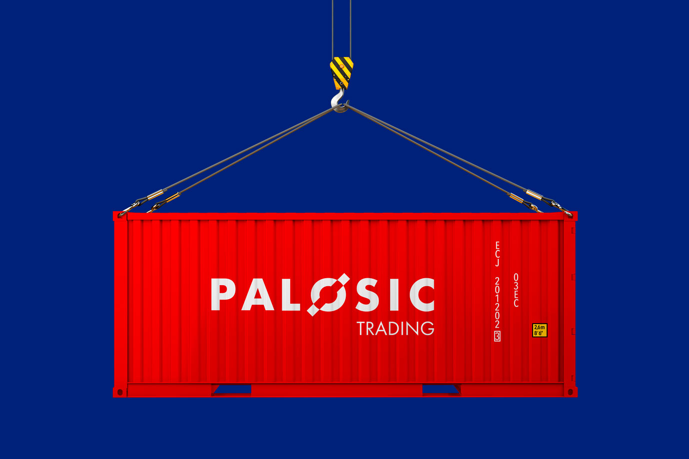 Cargo freight shipping container isolated on white background. 3
