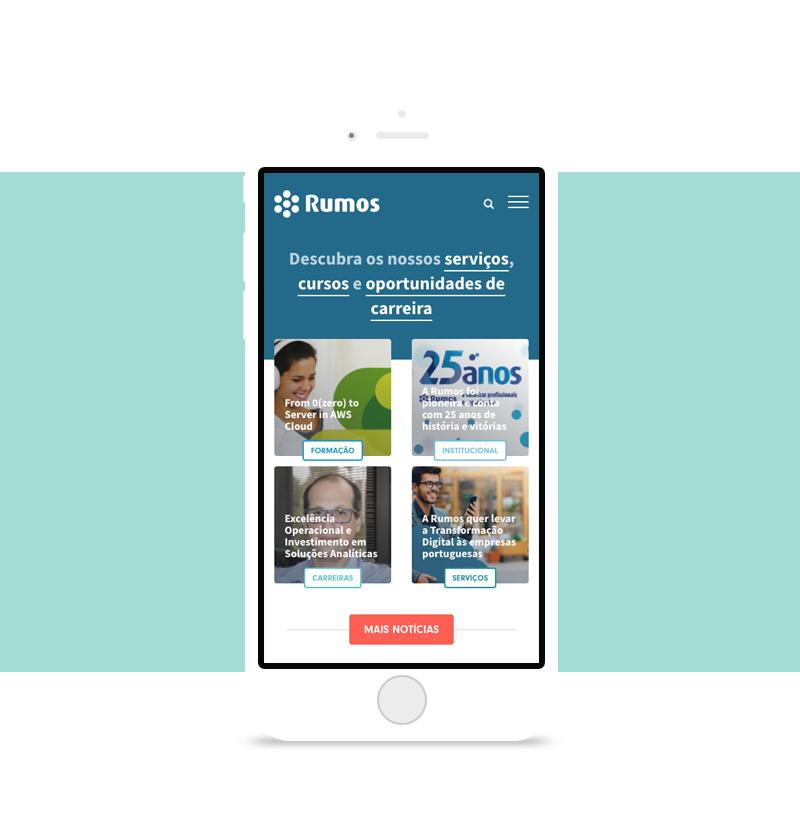 Novo site da Rumos. Uma abordagem unificada para uma oferta plural